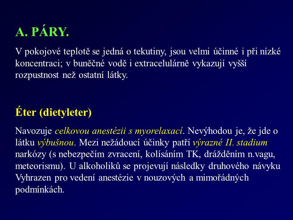 A. PÁRY. Éter (dietyleter)
