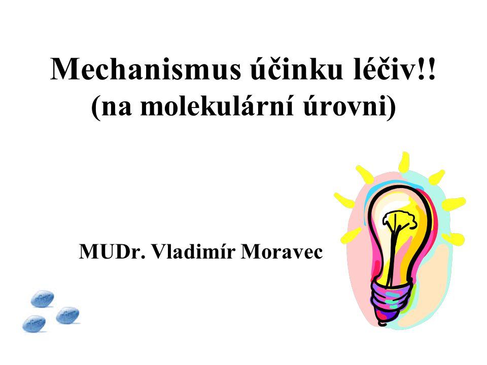 Mechanismus účinku léčiv!! (na molekulární úrovni)