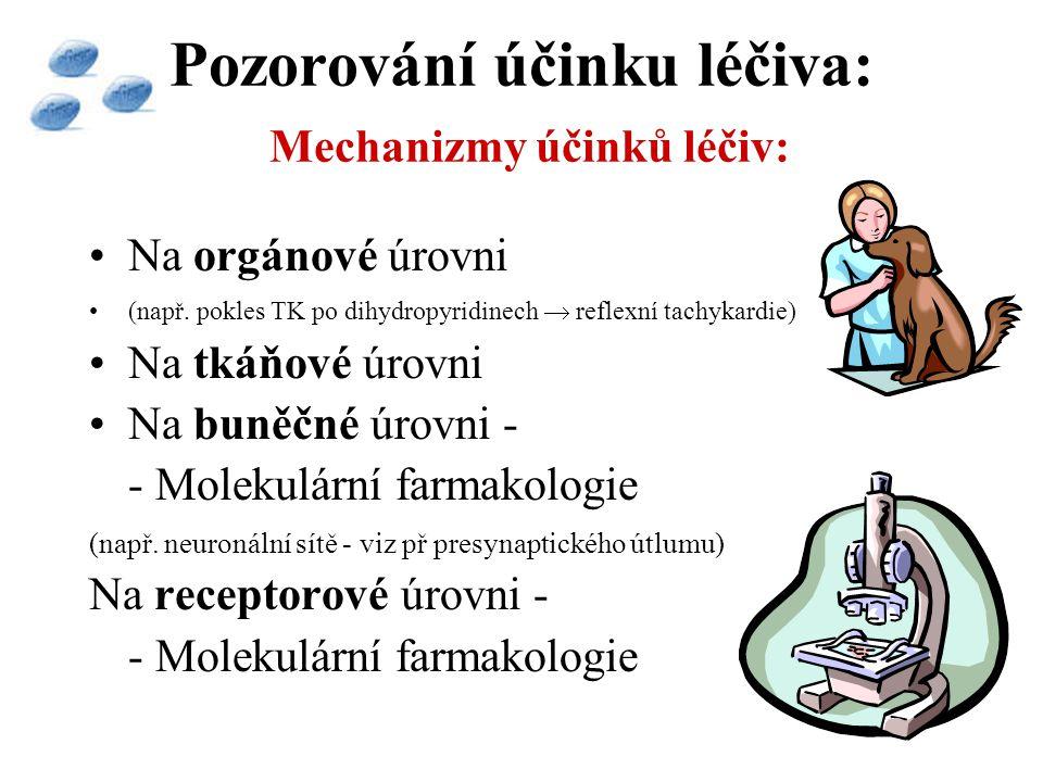 Pozorování účinku léčiva: Mechanizmy účinků léčiv: