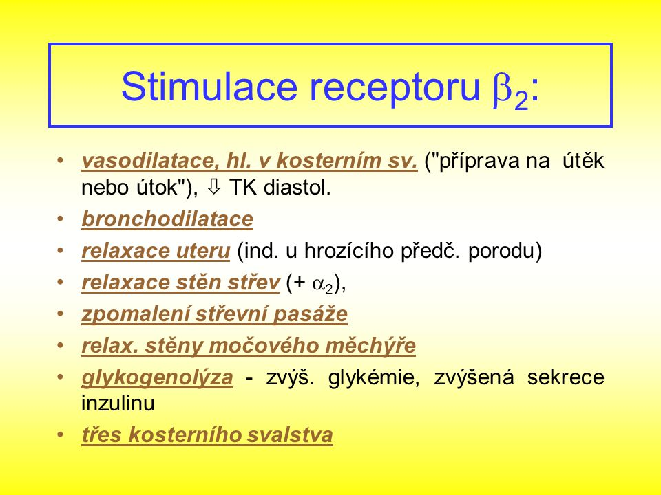 Stimulace receptoru b2: