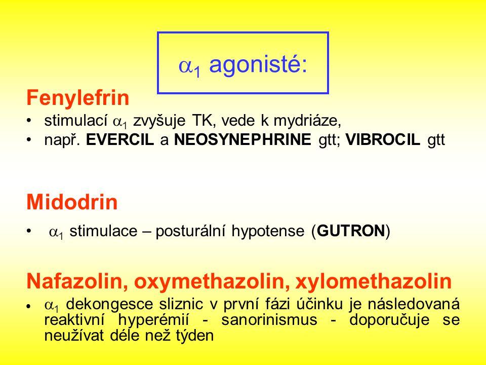a1 agonisté: Fenylefrin Midodrin