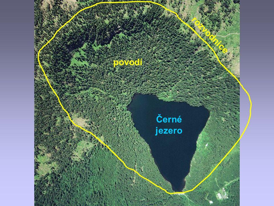 povodí rozvodnice Černé jezero