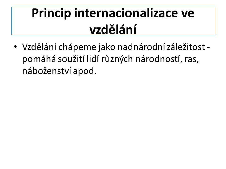 Princip internacionalizace ve vzdělání