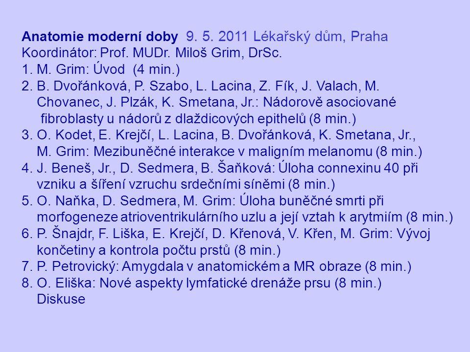 Anatomie moderní doby 9. 5. 2011 Lékařský dům, Praha