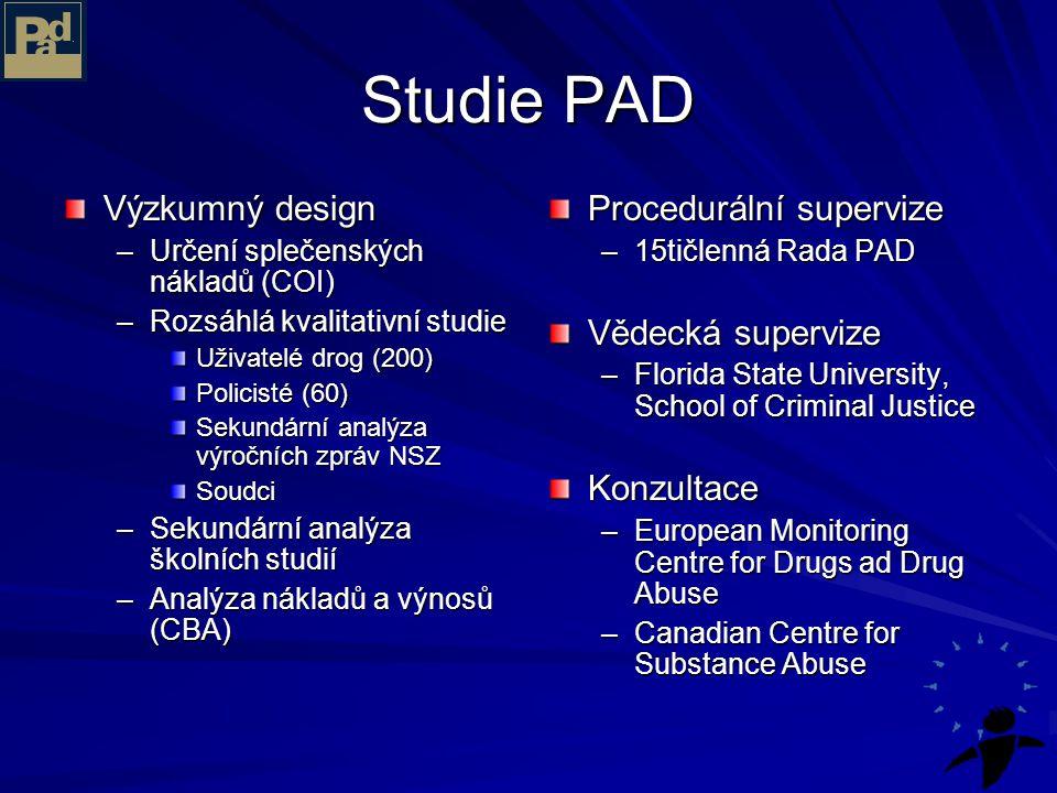 Studie PAD Výzkumný design Procedurální supervize Vědecká supervize