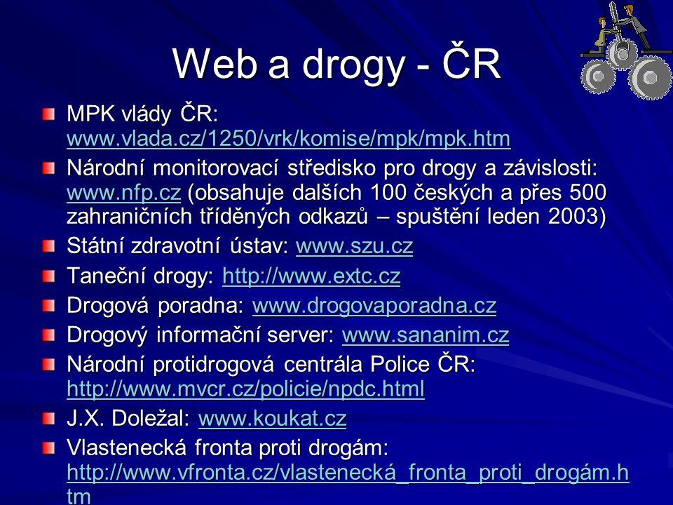 Web a drogy - ČR MPK vlády ČR: www.vlada.cz/1250/vrk/komise/mpk/mpk.htm.