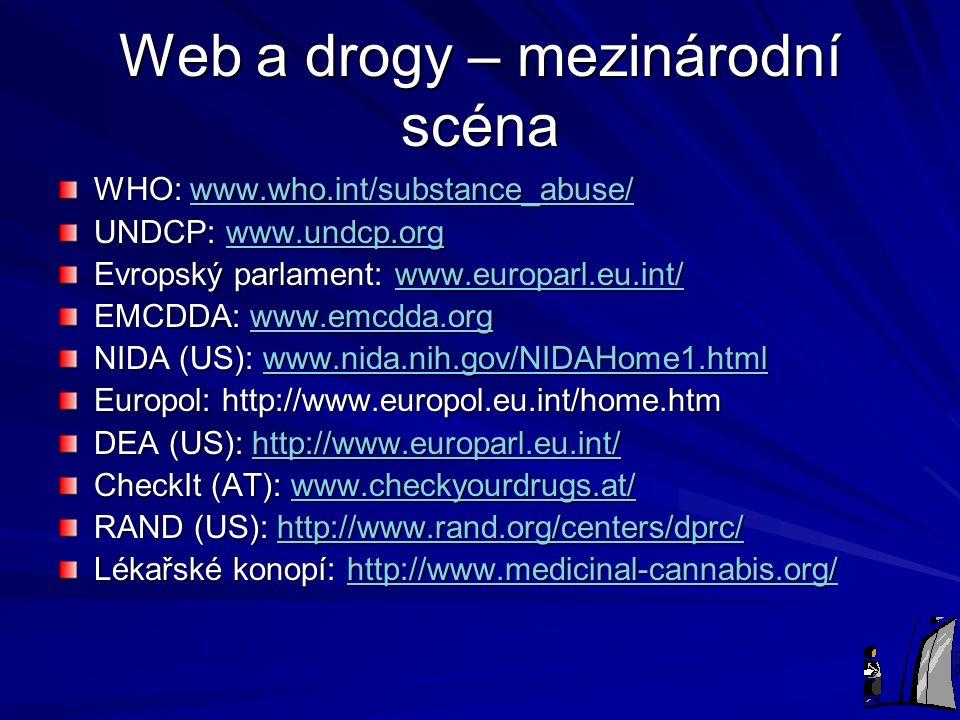 Web a drogy – mezinárodní scéna