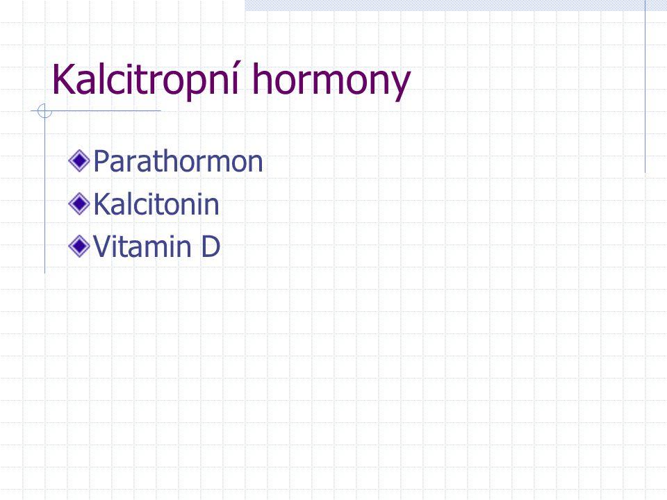 Kalcitropní hormony Parathormon Kalcitonin Vitamin D