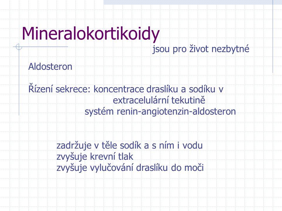 Mineralokortikoidy jsou pro život nezbytné Aldosteron