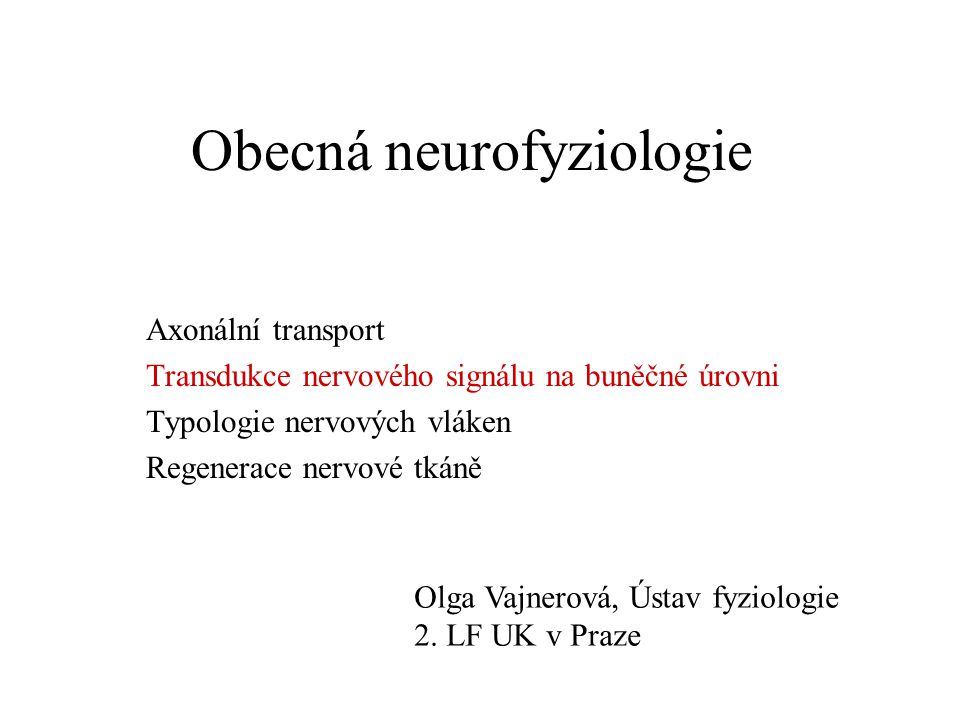 Obecná neurofyziologie