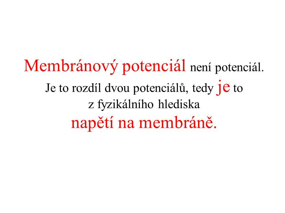Membránový potenciál není potenciál