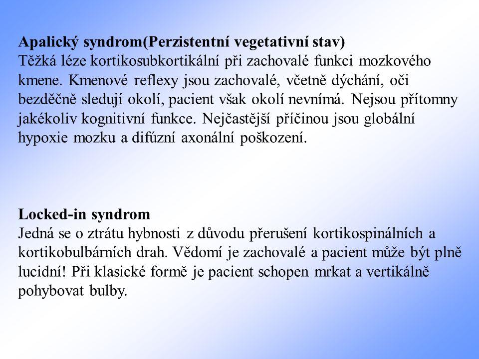 Apalický syndrom(Perzistentní vegetativní stav)