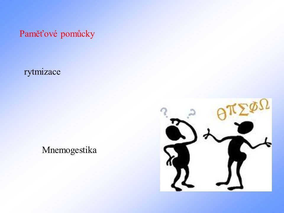 Paměťové pomůcky rytmizace Mnemogestika