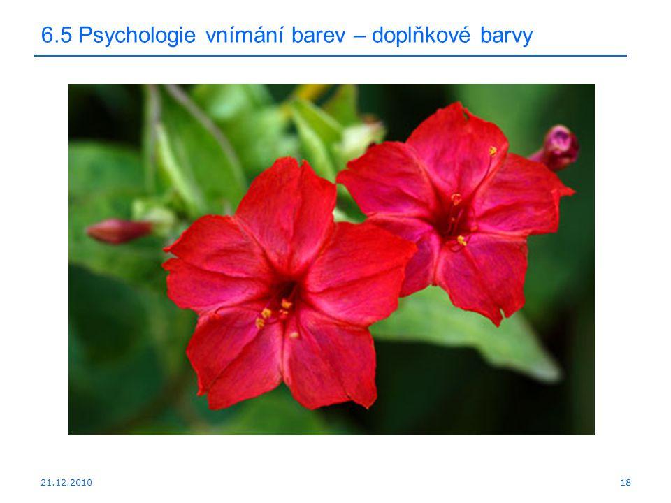 6.5 Psychologie vnímání barev – doplňkové barvy