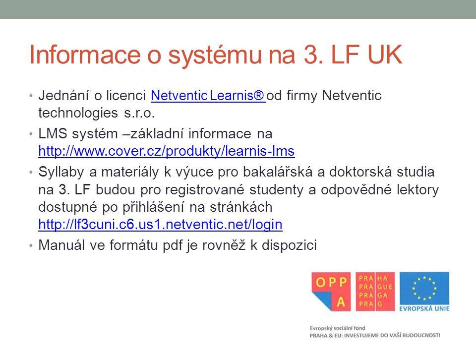 Informace o systému na 3. LF UK