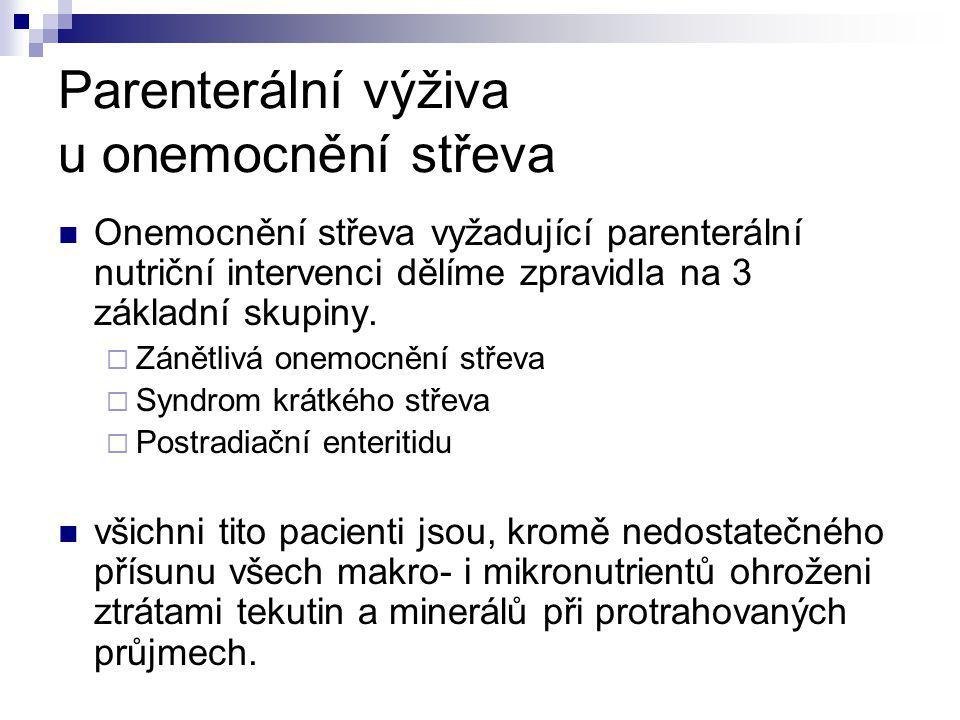 Parenterální výživa u onemocnění střeva