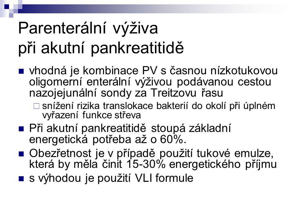Parenterální výživa při akutní pankreatitidě