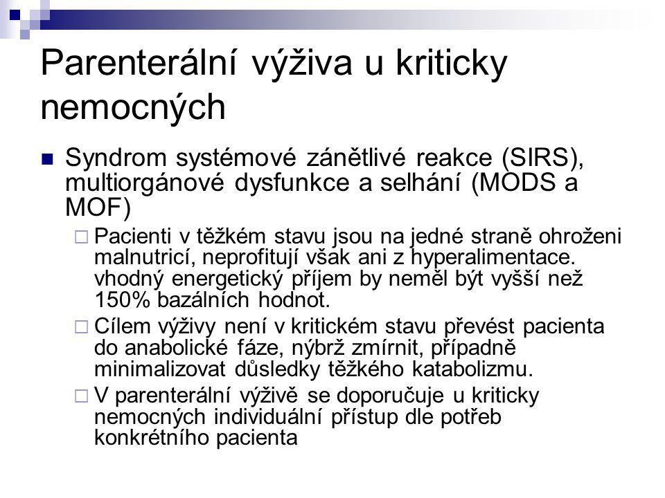 Parenterální výživa u kriticky nemocných