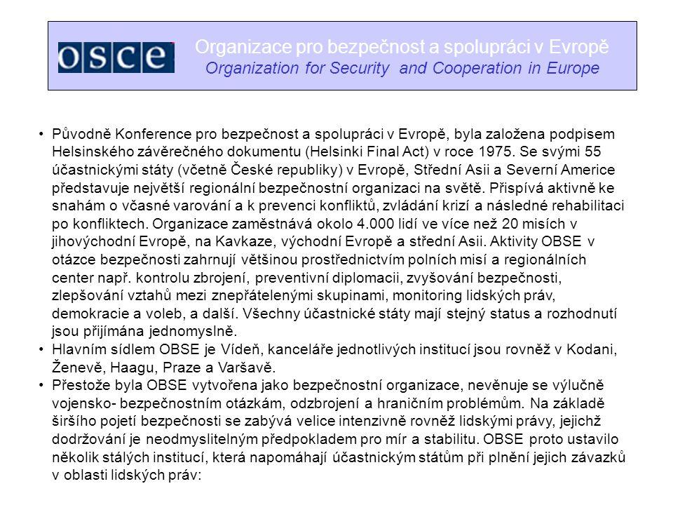 Organizace pro bezpečnost a spolupráci v Evropě