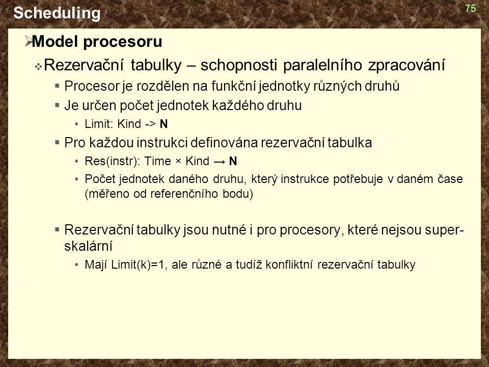 Rezervační tabulky – schopnosti paralelního zpracování