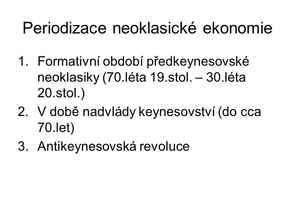 Periodizace neoklasické ekonomie