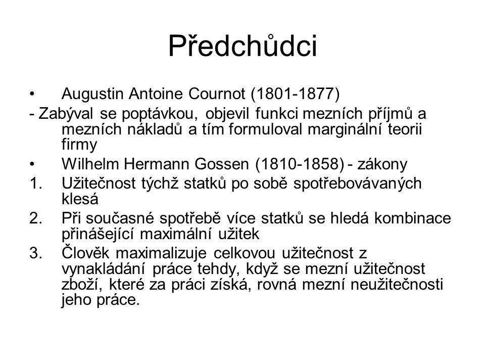 Předchůdci Augustin Antoine Cournot (1801-1877)