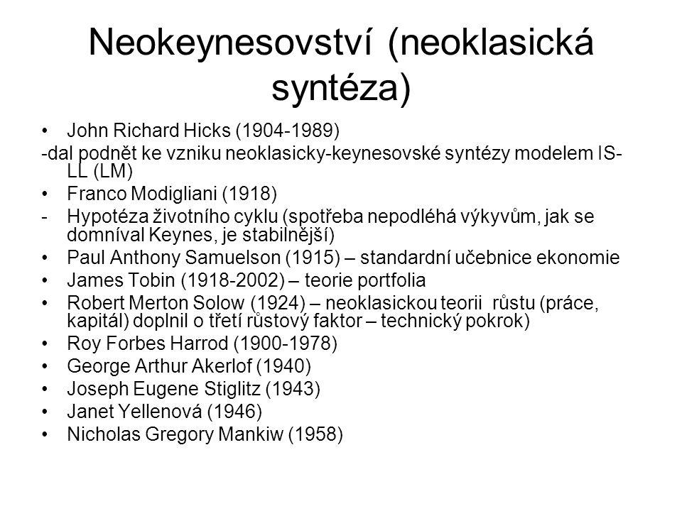 Neokeynesovství (neoklasická syntéza)