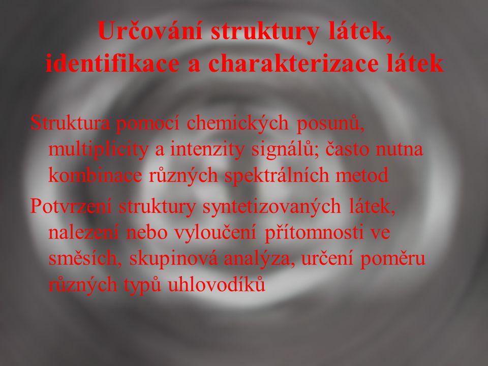Určování struktury látek, identifikace a charakterizace látek