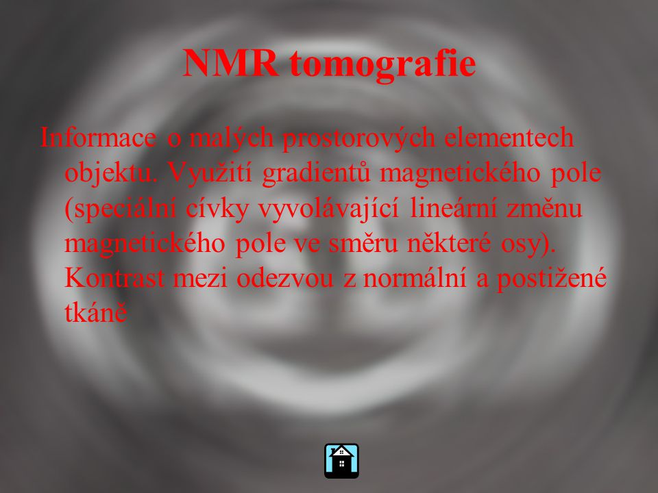 NMR tomografie