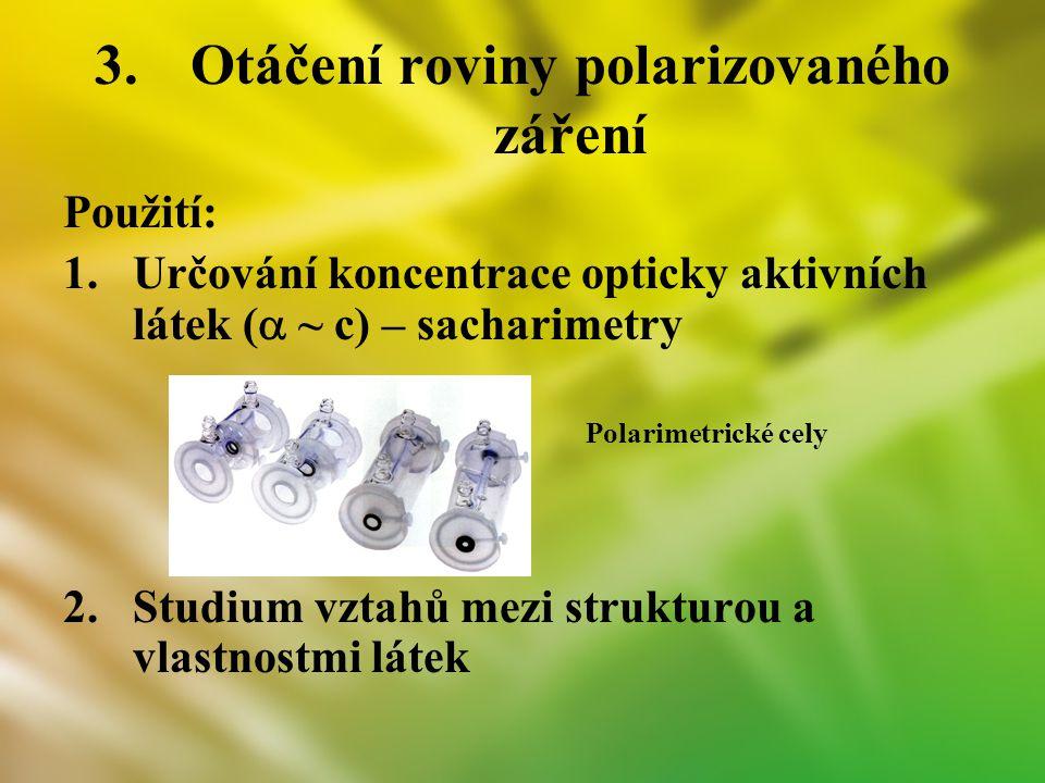 Otáčení roviny polarizovaného záření