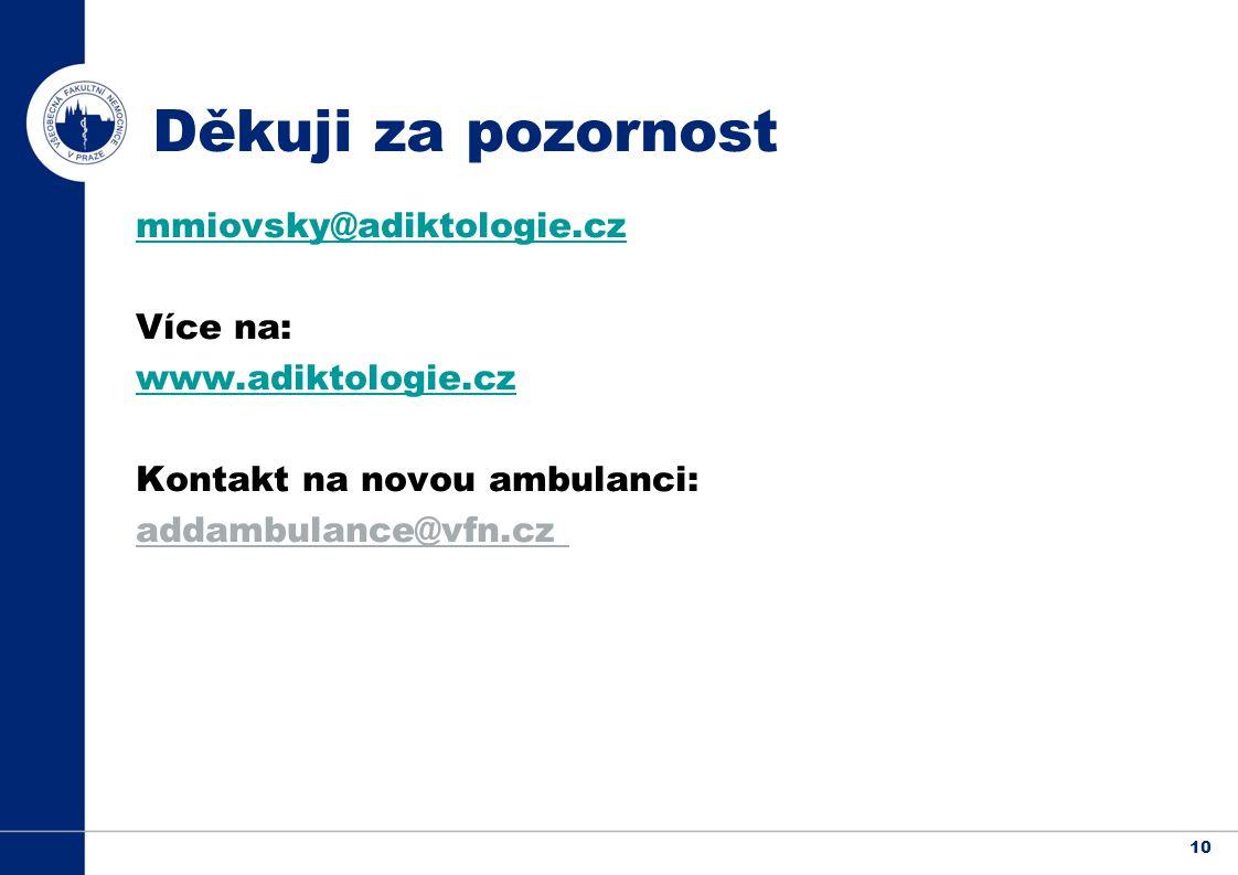 Děkuji za pozornost mmiovsky@adiktologie.cz Více na: