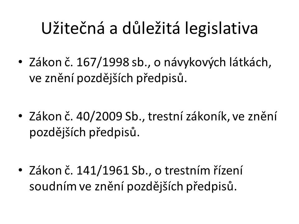 Užitečná a důležitá legislativa