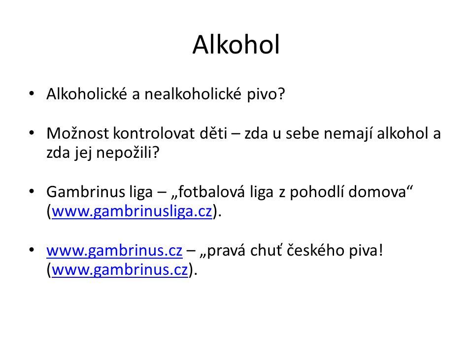 Alkohol Alkoholické a nealkoholické pivo