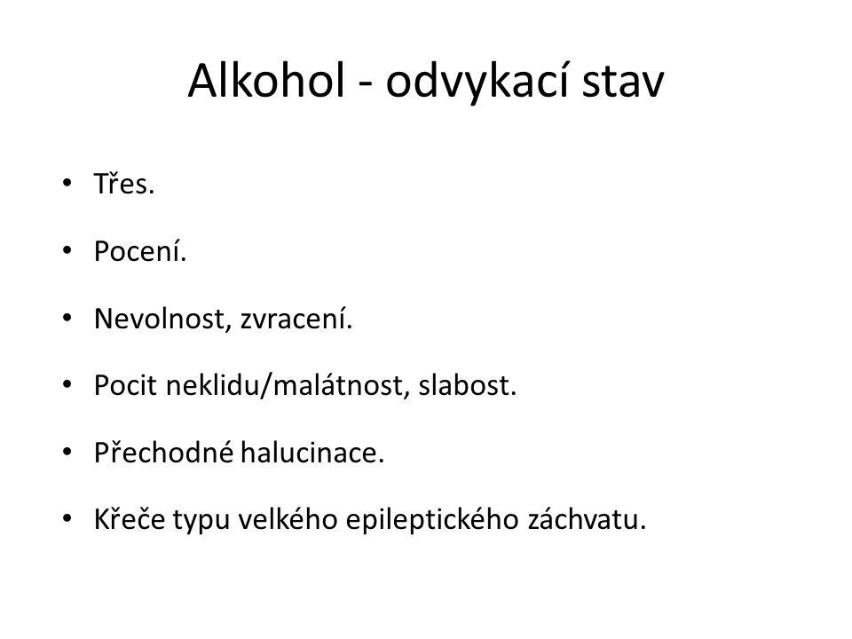 Alkohol - odvykací stav