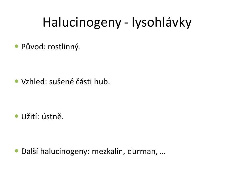 Halucinogeny - lysohlávky