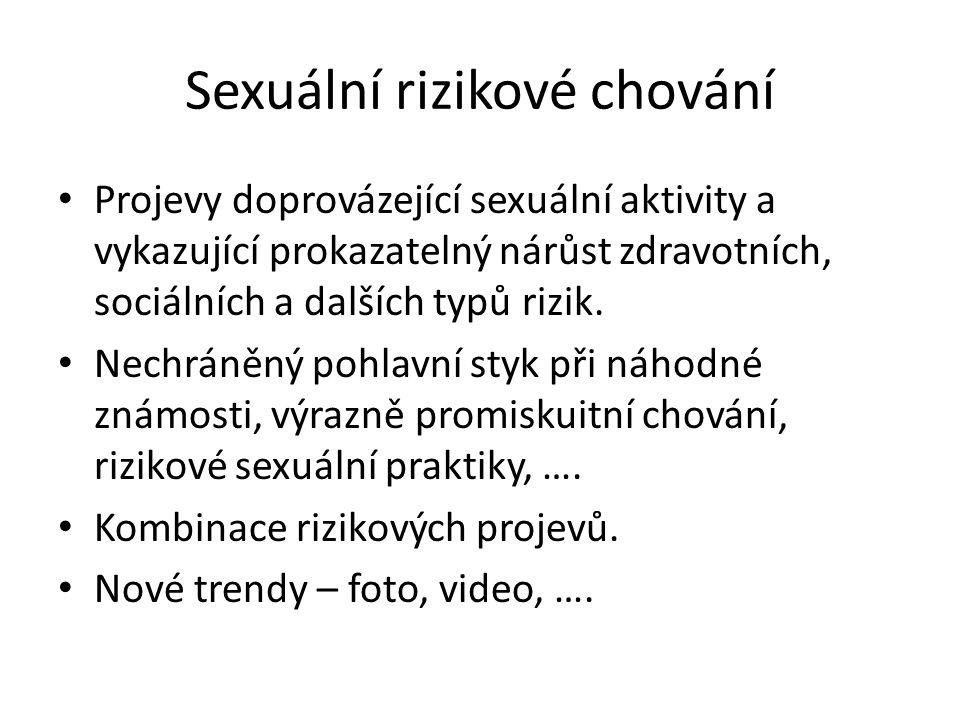 Sexuální rizikové chování