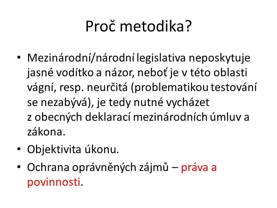 Proč metodika