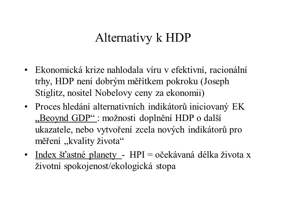 Alternativy k HDP