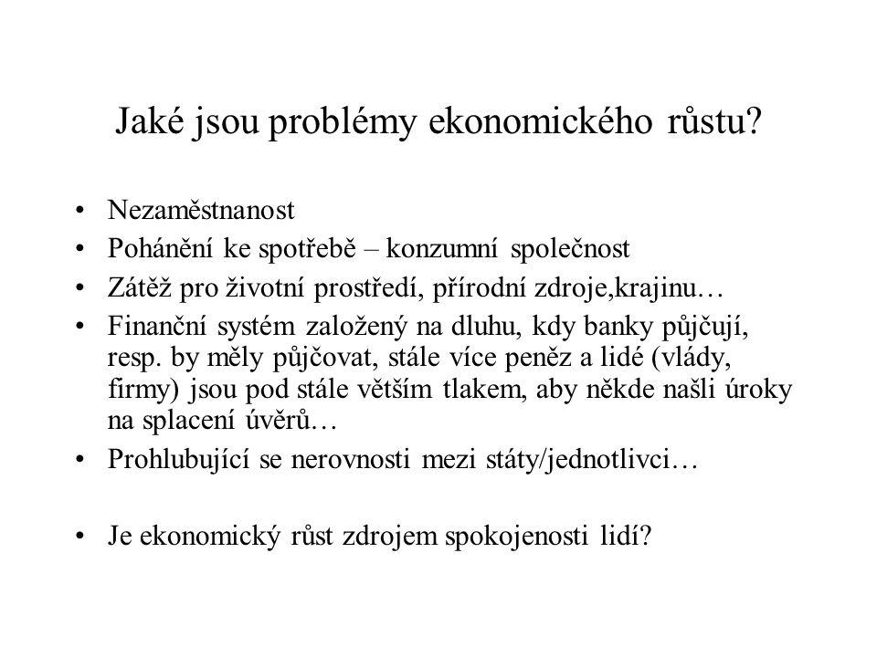 Jaké jsou problémy ekonomického růstu
