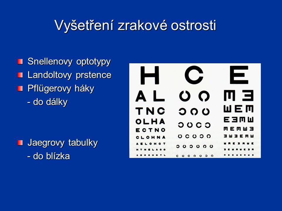 Vyšetření zrakové ostrosti