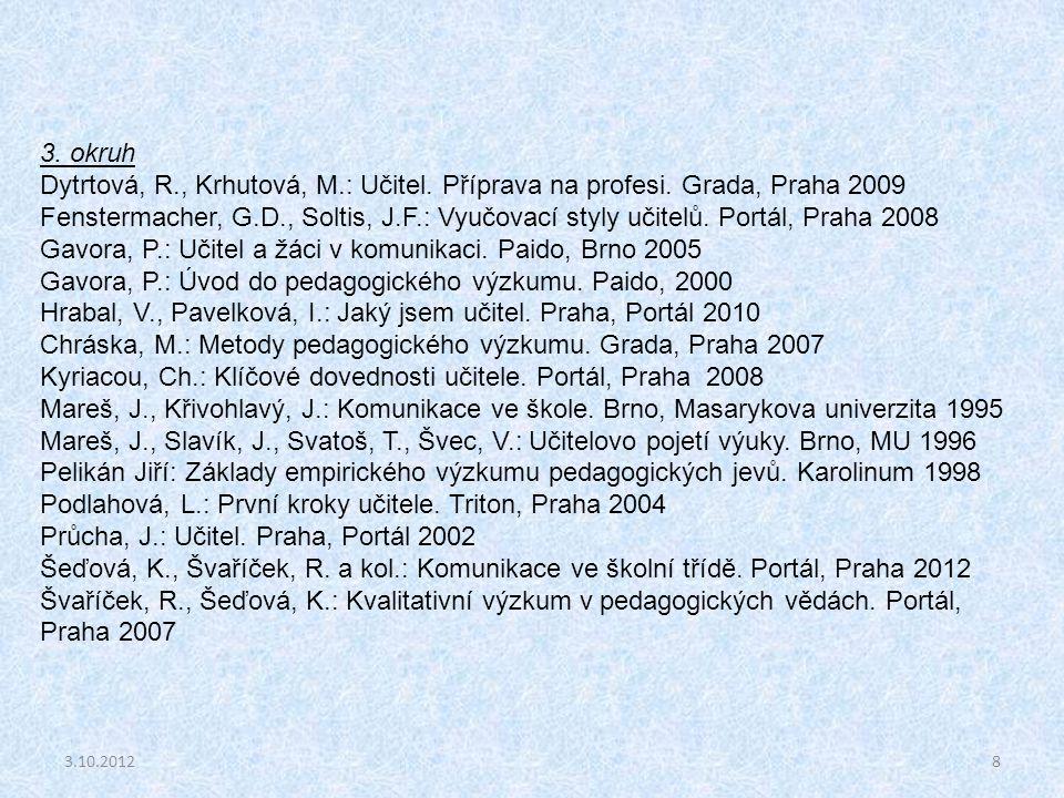 Gavora, P.: Učitel a žáci v komunikaci. Paido, Brno 2005