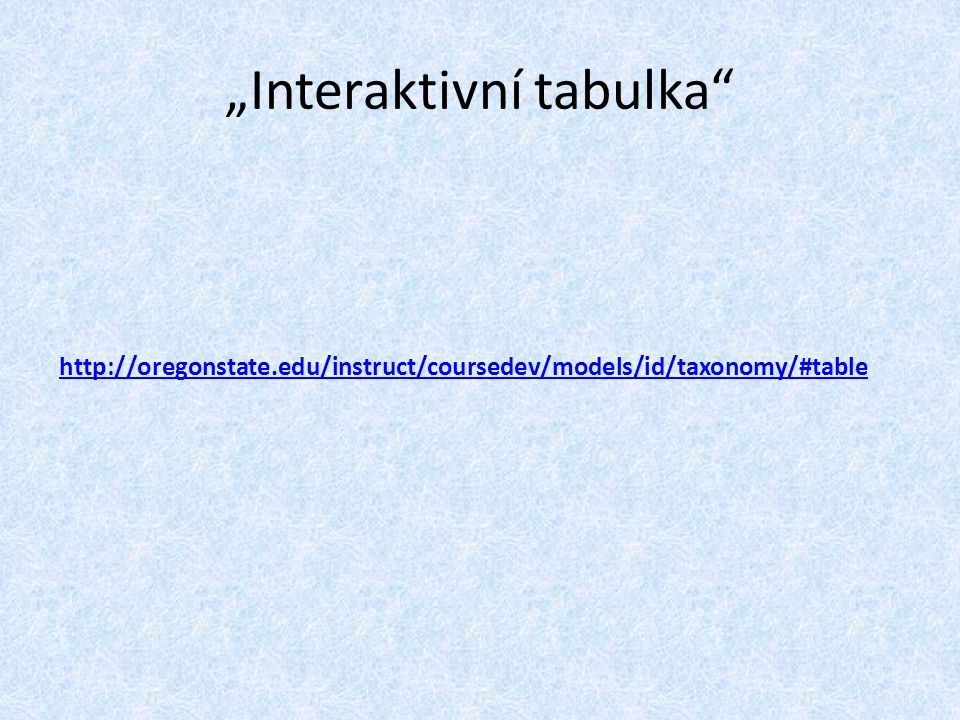"""Interaktivní tabulka"