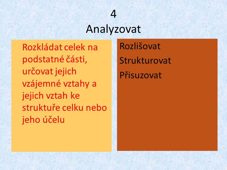 4 Analyzovat Rozlišovat Strukturovat Přisuzovat