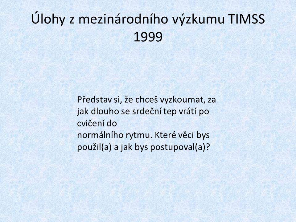 Úlohy z mezinárodního výzkumu TIMSS 1999
