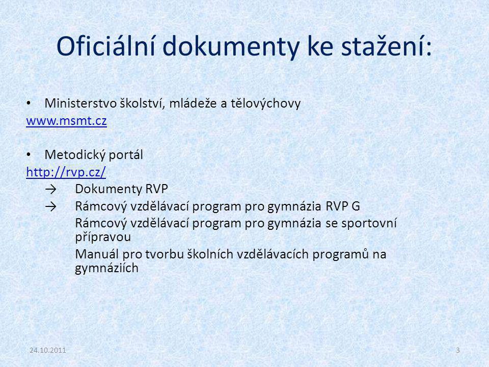 Oficiální dokumenty ke stažení: