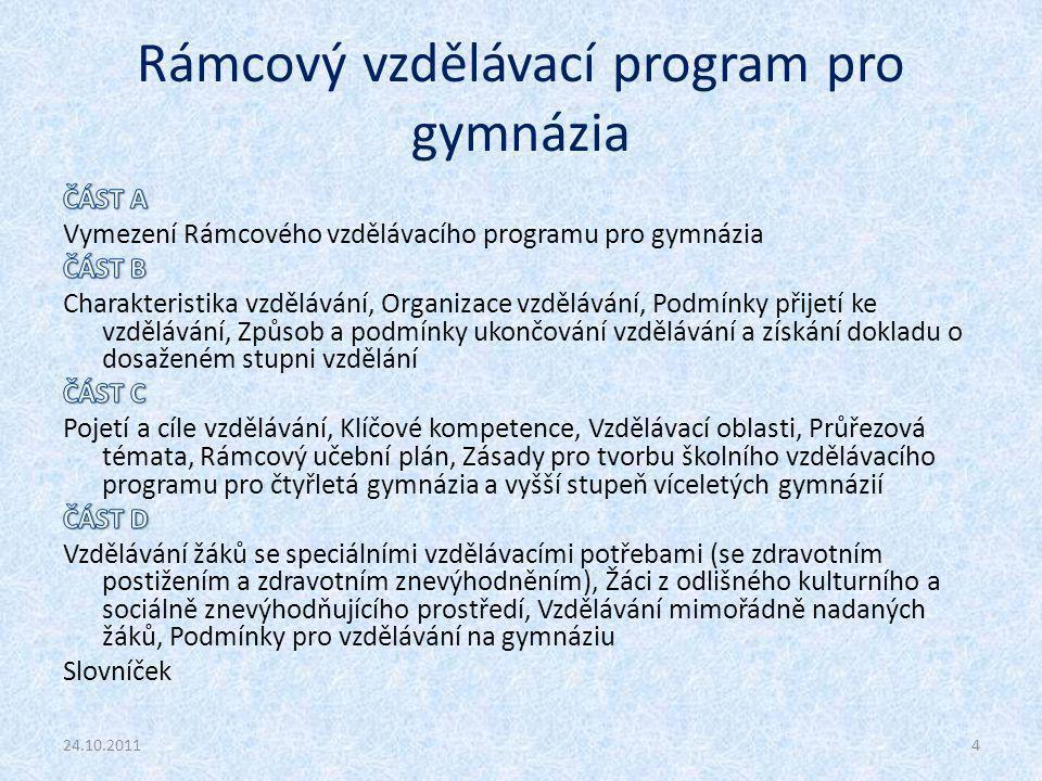 Rámcový vzdělávací program pro gymnázia