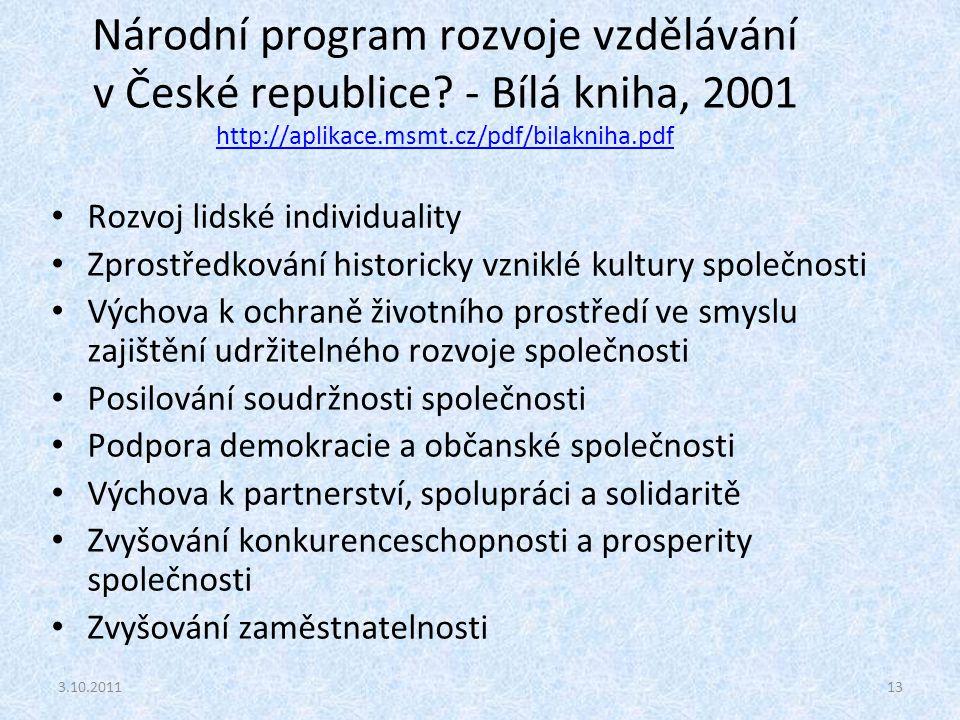 Národní program rozvoje vzdělávání v České republice