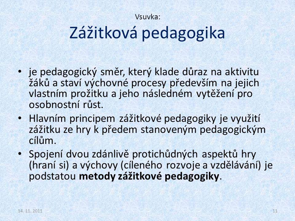 Vsuvka: Zážitková pedagogika