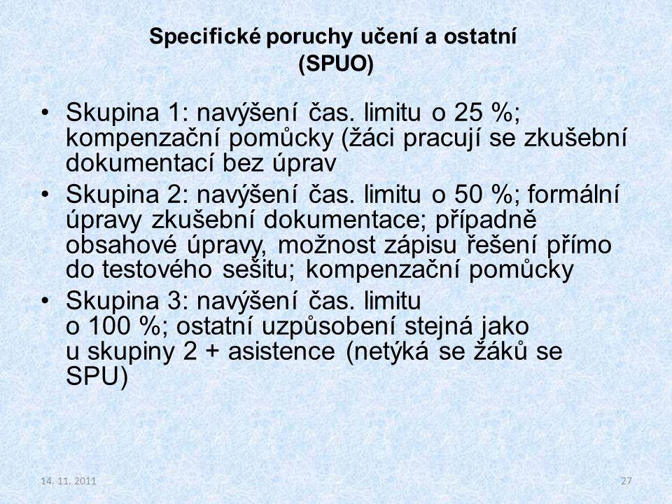 Specifické poruchy učení a ostatní (SPUO)