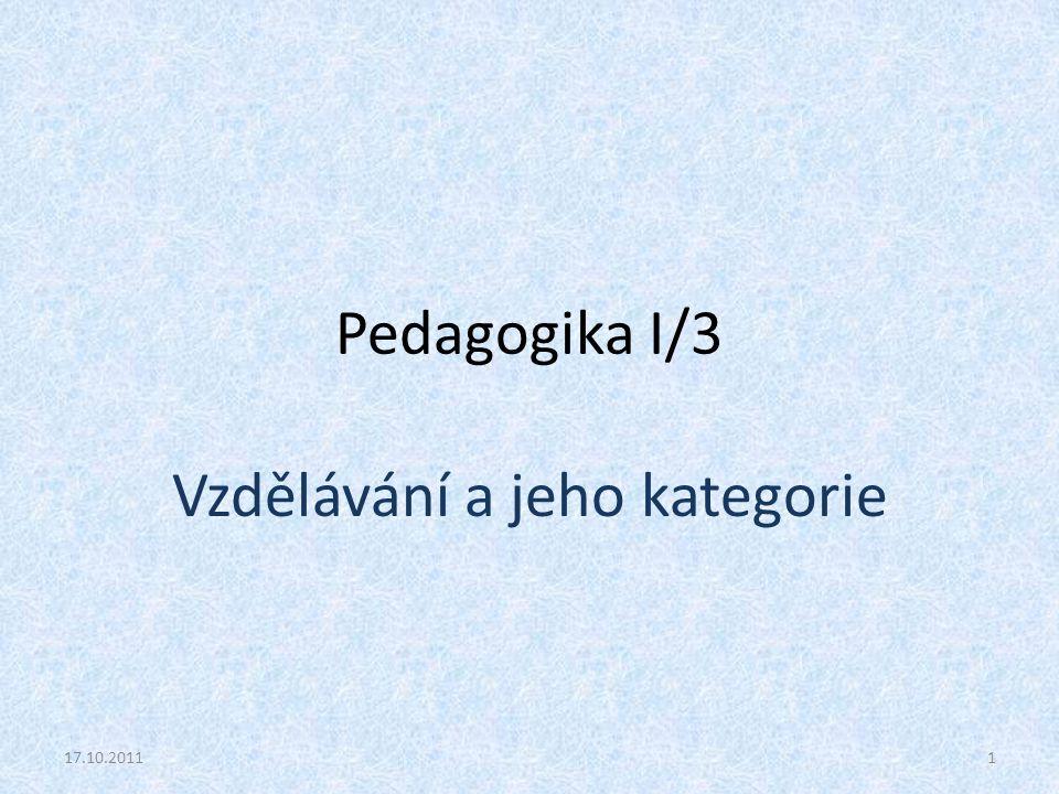 Vzdělávání a jeho kategorie